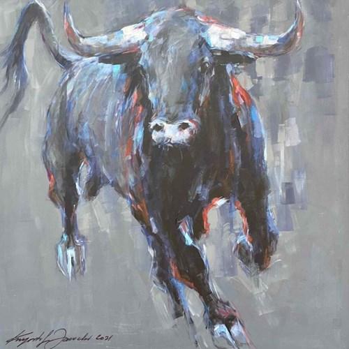 Obraz do salonu artysty Krzysztof Jarocki pod tytułem Byk