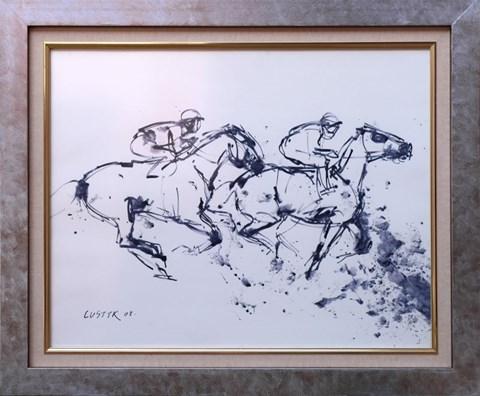 Obraz do salonu artysty Bogusław Lustyk pod tytułem Wyścig