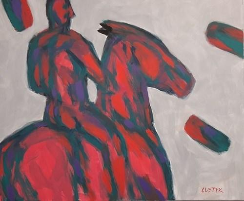 Obraz do salonu artysty Bogusław Lustyk pod tytułem Poskramiacz koni