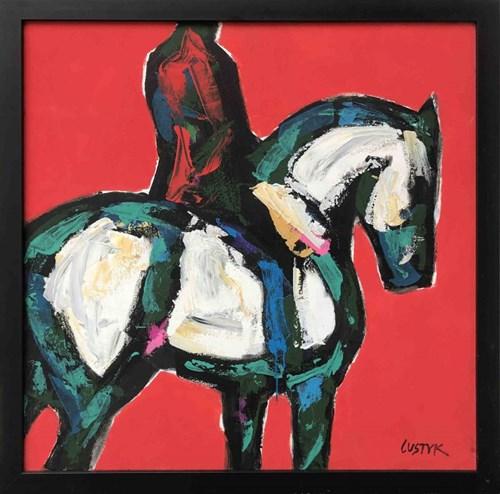 Obraz do salonu artysty Bogusław Lustyk pod tytułem Jeździec