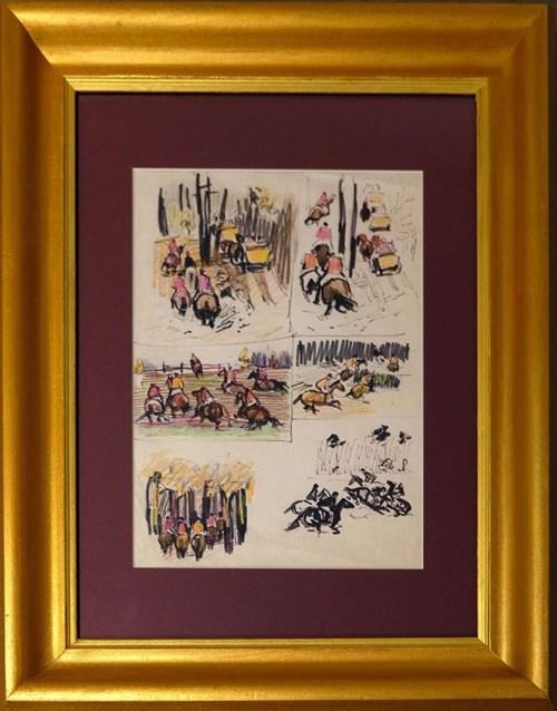Obraz do salonu artysty Ludwik Maciąg pod tytułem Konie