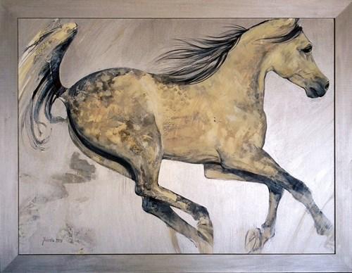 Obraz do salonu artysty Jolanta Kalopsidiotis pod tytułem Arab na srebrze