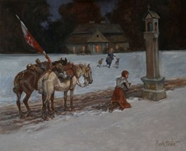 Obraz do salonu artysty Marek Hołda pod tytułem Powrót