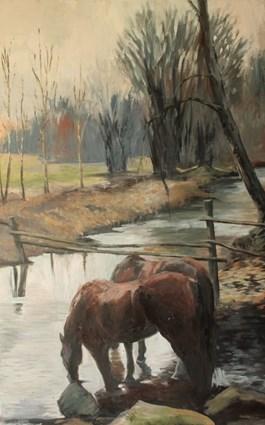 Obraz do salonu artysty Samantha Glińska pod tytułem Nad wodą