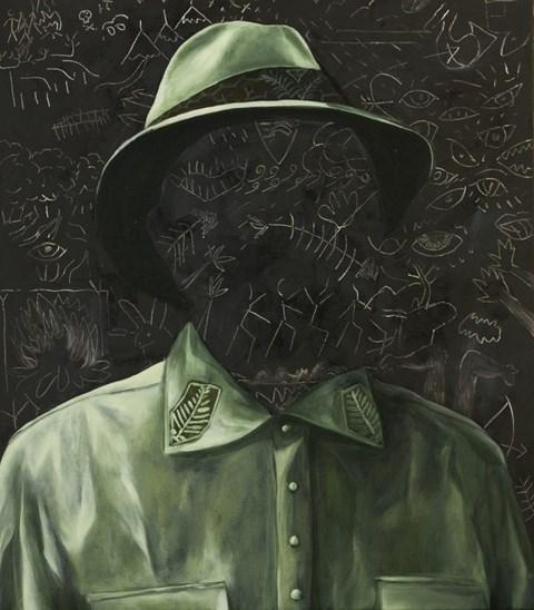 Obraz do salonu artysty Dawid Czycz pod tytułem Portret zielony