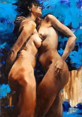 Obraz do salonu artysty Krystyna Khvostyk pod tytułem Bliskość