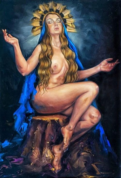 Obraz do salonu artysty Krystyna Khvostyk pod tytułem Madonna