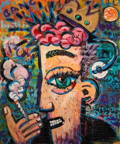 Obraz do salonu artysty Battler pod tytułem Burza mózgu