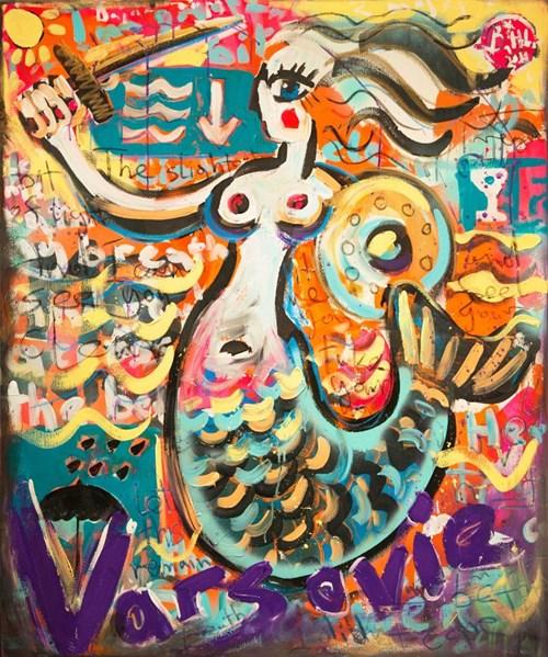 Obraz do salonu artysty Battler pod tytułem Mademoiselle Varsovie