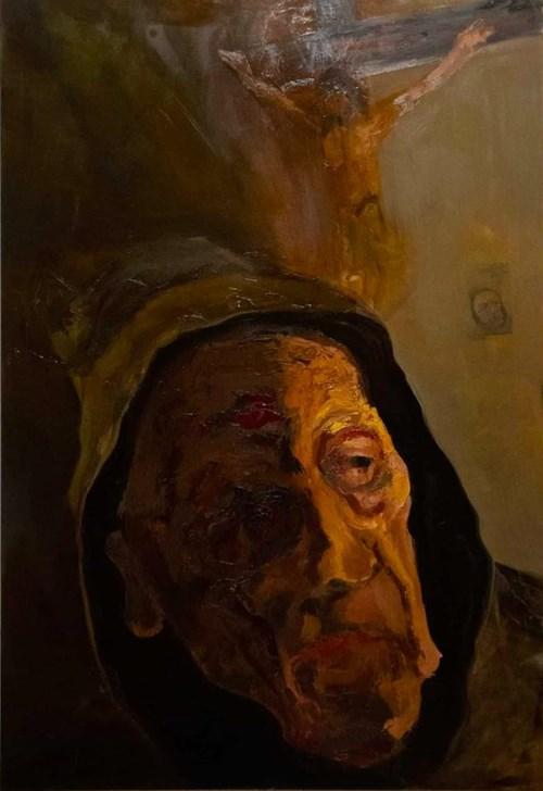 Obraz do salonu artysty Jakub Wasilewski pod tytułem Mnich