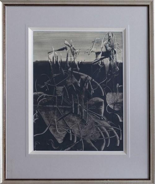Obraz do salonu artysty Alfred Lenica pod tytułem Bez tytułu