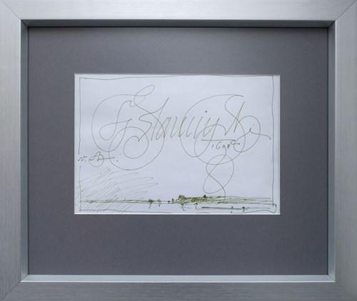 Obraz do salonu artysty Franciszek Starowieyski pod tytułem Widok Janowca od strony Kazimierza Dolnego