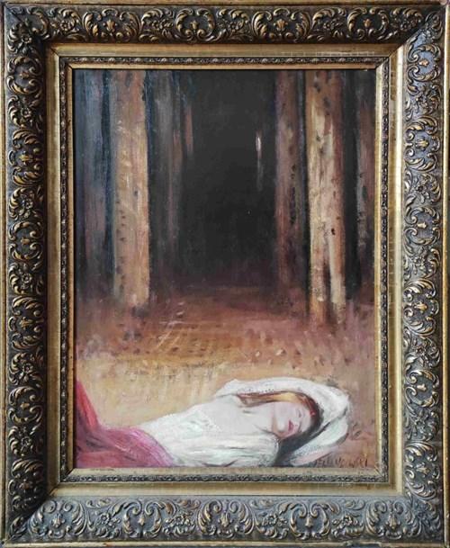 Obraz do salonu artysty Janusz Lewandowski pod tytułem W głębinie lasu