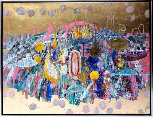 Obraz do salonu artysty Artur Kardamasz pod tytułem Martwa natura z rybami
