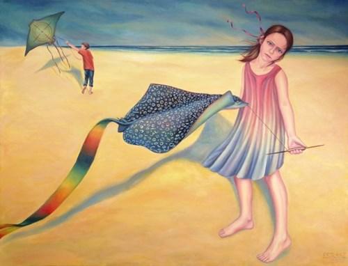 Obraz do salonu artysty Ewelina Straszewicz pod tytułem A Perfect Weather to Fly Kites
