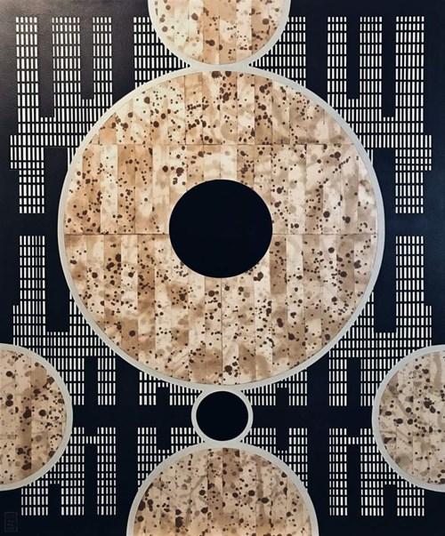 Obraz do salonu artysty Lu Svensson pod tytułem Titanum Eclipse