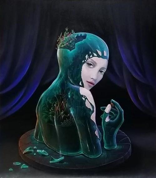 Obraz do salonu artysty Kat Garstka pod tytułem Ogród Mnie