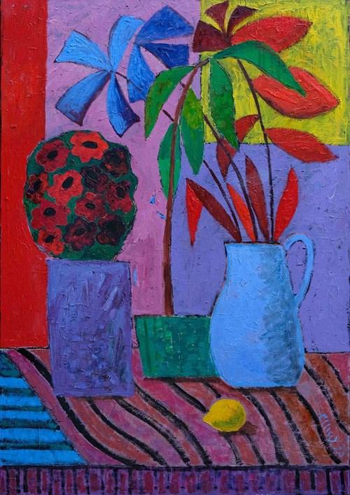 Obraz do salonu artysty Elżbieta Ostrowska-Łysak pod tytułem Dzikie kwiaty