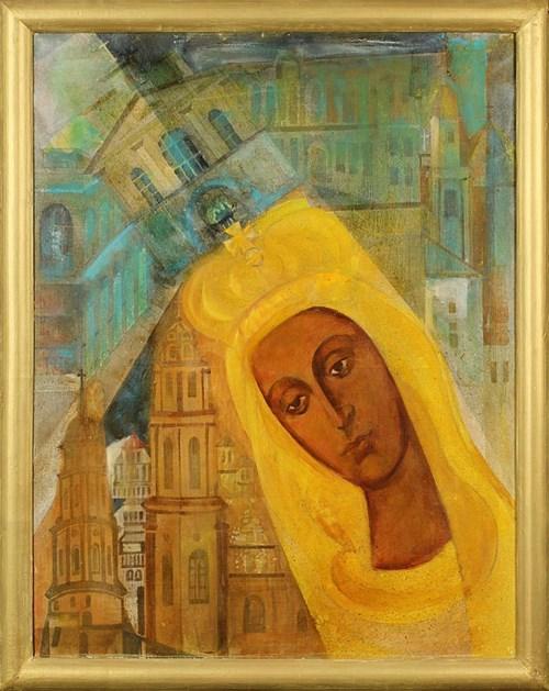 Obraz do salonu artysty Stanisław Kiczko pod tytułem Ta, co świeci w Ostrej Bramie