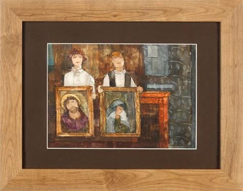 Obraz do salonu artysty Małgorzata Rozmarynowska pod tytułem Wzajemna nić przyjaźni
