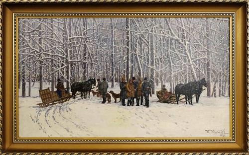 Obraz do salonu artysty Walerian Kryciński pod tytułem Polowanie