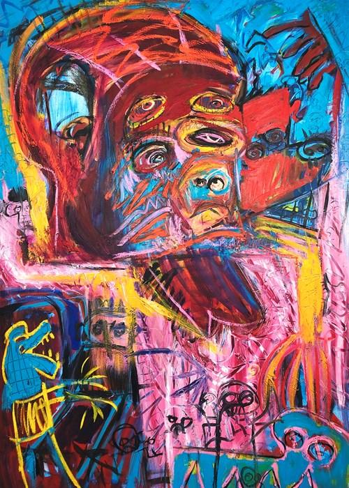 Obraz do salonu artysty Michał Ostrowski pod tytułem Niebieski krokodyl
