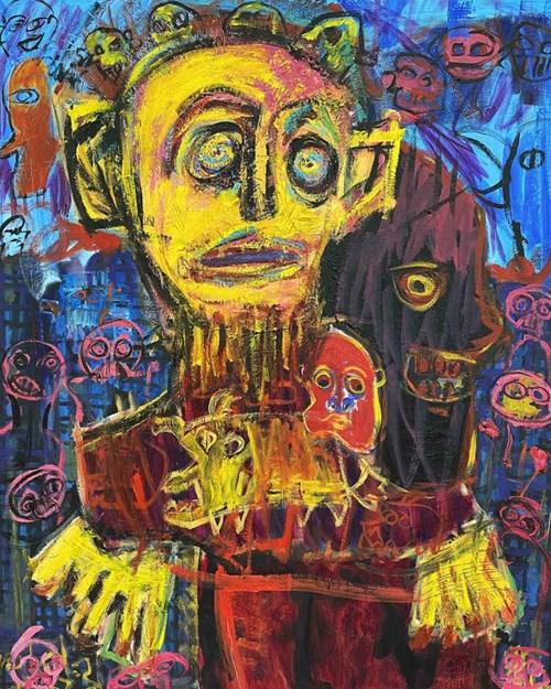 Obraz do salonu artysty Michał Ostrowski pod tytułem Szaleniec w mieście