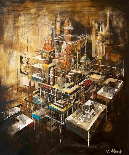 Obraz do salonu artysty Natasza Mirak pod tytułem Niewidzialne miasto