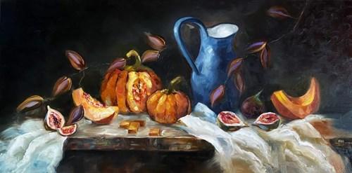 Obraz do salonu artysty Katarzyna Panko pod tytułem Figs&Pumpkins