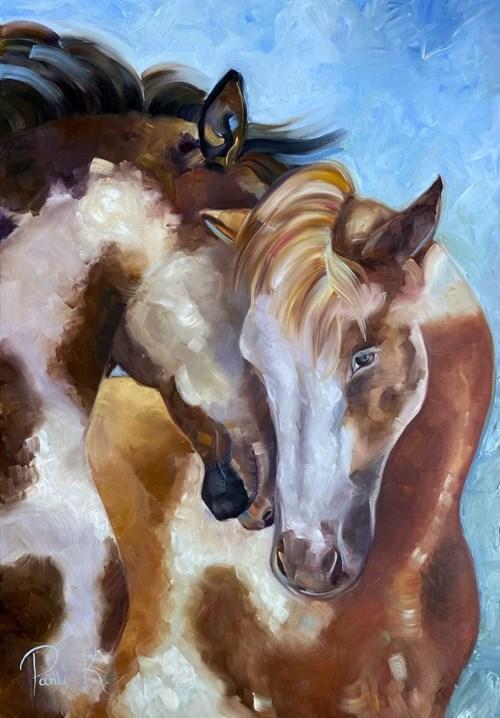 Obraz do salonu artysty Katarzyna Panko pod tytułem Konie