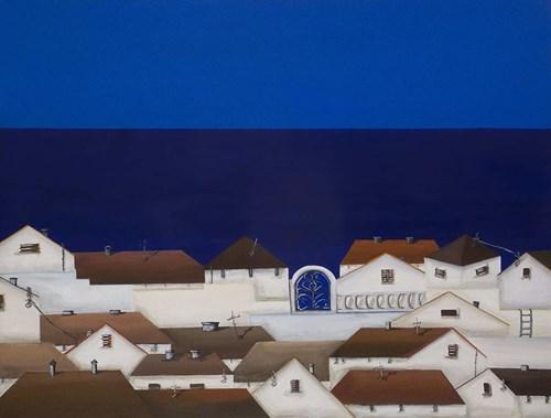 Obraz do salonu artysty Natalia Sroka pod tytułem Isla z cyklu El Pueblo