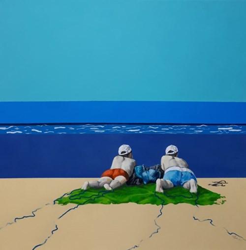 Obraz do salonu artysty Izabela Sak pod tytułem Nie myśleć o niczym