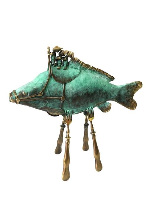 Rzeźba do salonu artysty Katarzyna Bułka-Matłacz pod tytułem Jeźdzcy - władcy świata