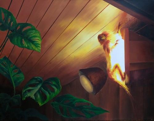 Obraz do salonu artysty Sylwia Solak pod tytułem Małpa