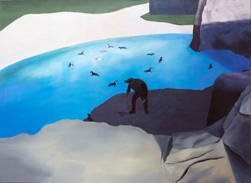Obraz do salonu artysty Sylwia Solak pod tytułem Pingwiny