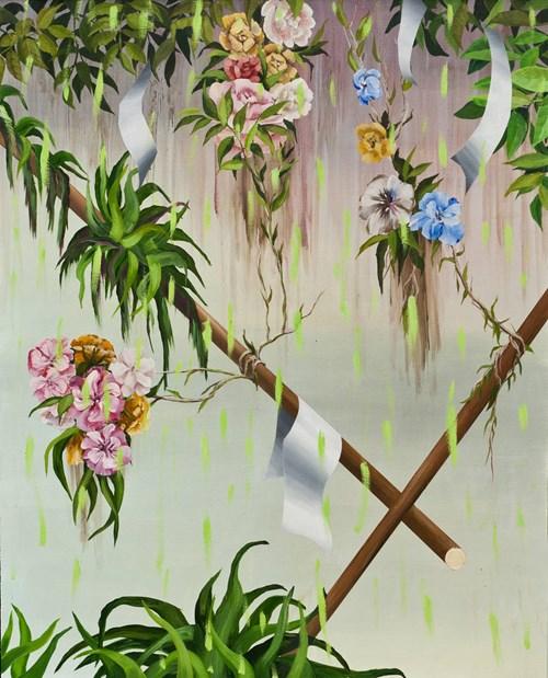 Obraz do salonu artysty Joanna Mlącka pod tytułem Tajemniczy Ogród
