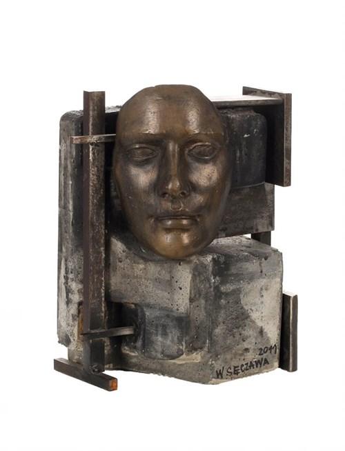 Rzeźba do salonu artysty Wojciech Sęczawa pod tytułem Twarz