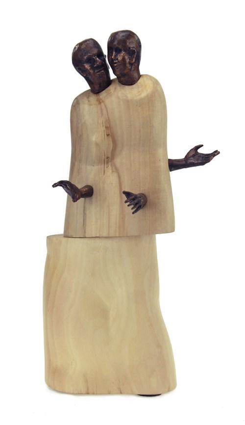 Rzeźba do salonu artysty Bogdan Król pod tytułem Gadu-gadu