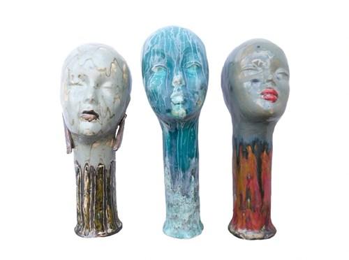 Rzeźba do salonu artysty Marta Baranowska pod tytułem Trio