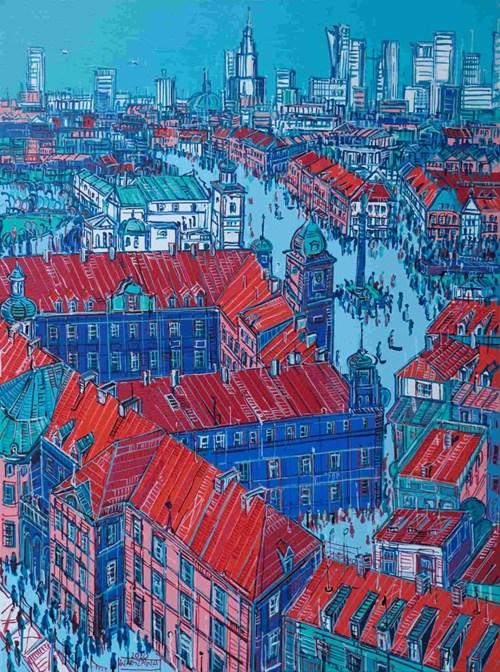 Obraz do salonu artysty Joanna Mieszko pod tytułem Warszawa NR XI-103-235
