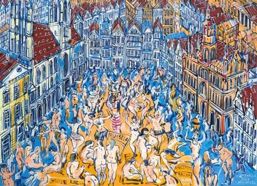Obraz do salonu artysty Joanna Mieszko pod tytułem Bruksela XI 39-171