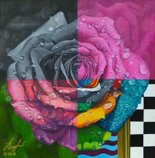 Obraz do salonu artysty Olena Lytvynenko pod tytułem Róża
