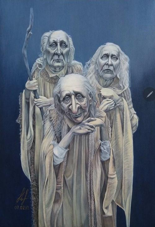Obraz do salonu artysty Olena Lytvynenko pod tytułem Trzy Duchy