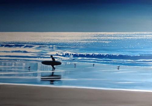 Obraz do salonu artysty Maciej Majewski pod tytułem Blue at Heart and The Ocean