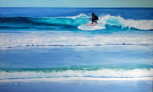 Obraz do salonu artysty Maciej Majewski pod tytułem Doświadczony Surfer