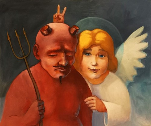 Obraz do salonu artysty Grzegorz Walter pod tytułem Rogi