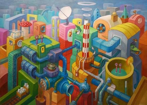 Obraz do salonu artysty Grzegorz Walter pod tytułem Fabryka snu