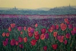 Obraz do salonu artysty Jacek Malinowski pod tytułem Tulipany