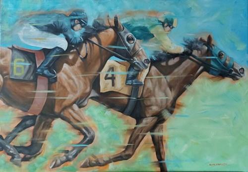 Obraz do salonu artysty Beata Kowalczyk pod tytułem Wyścigi konne III