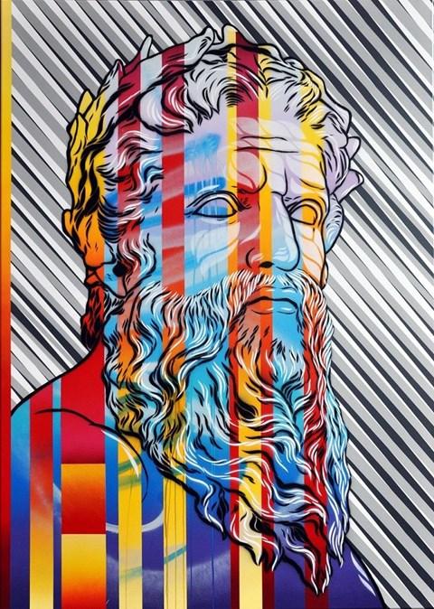 Obraz do salonu artysty Michał Mąka pod tytułem Zeus